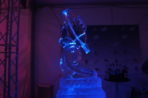 Ice Sculpture @ Chase On The Lake Miller Lite Tent