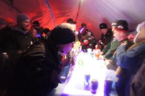 Merle's Igloo Encampment Shot Ski
