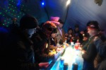 Merle's Igloo Encampment Shot Ski